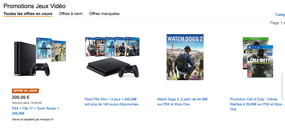 blackfriday console ps4 xbox amazon
