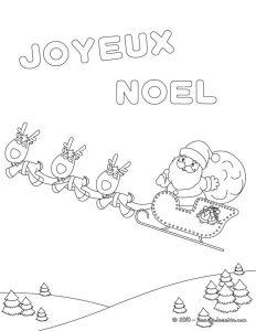 carte coloriage pour noel