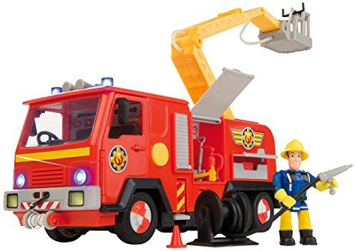 smoby toys 109257661smo sam le pompier camion de pompier jupiter fonction lance eau. Black Bedroom Furniture Sets. Home Design Ideas