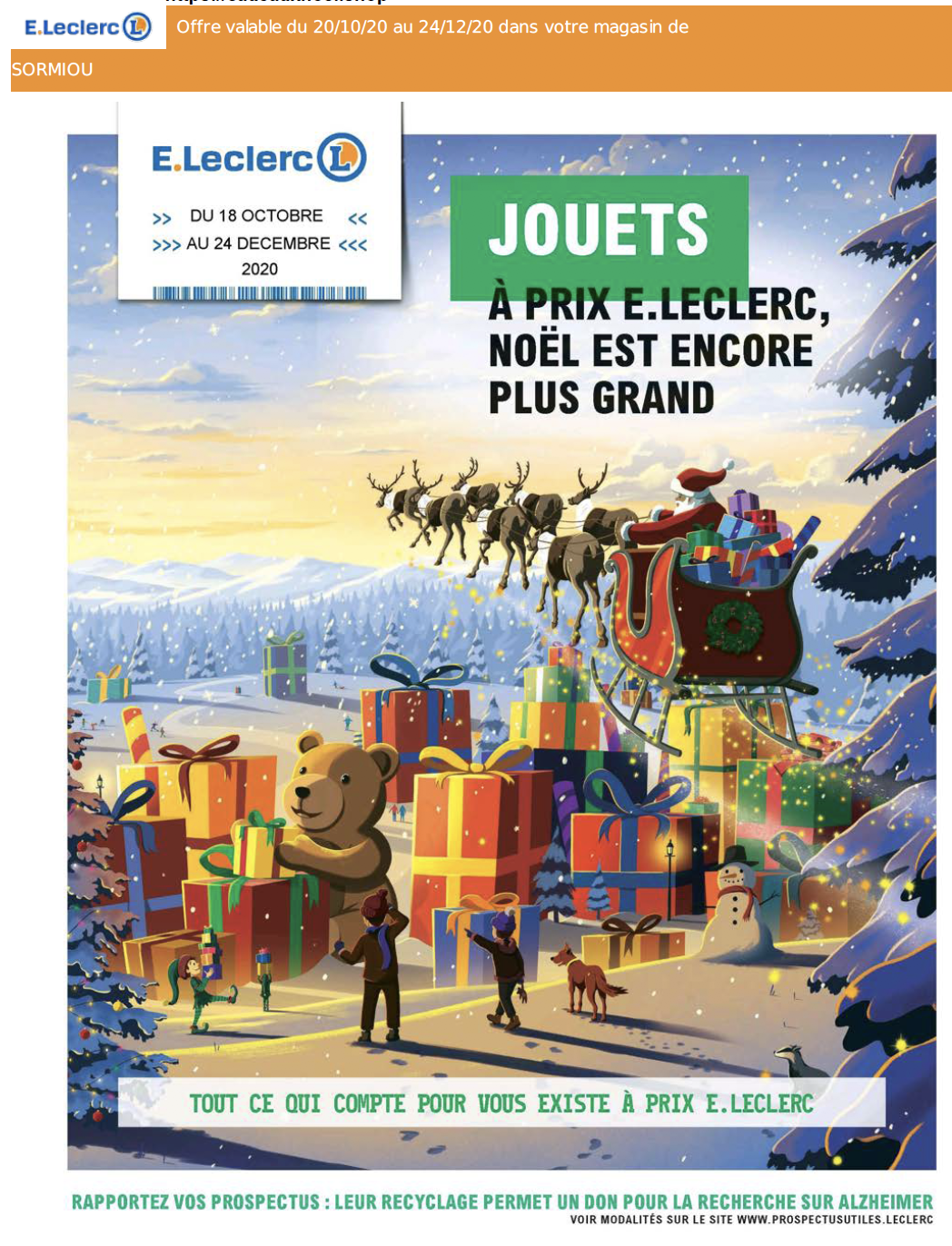 Catalogue noel leclerc 2020