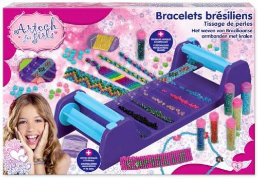 Pearls creation maxi toys 10140650 Pearls creation Ce coffret Pearls création contient un petit métier à tisser livré avec tout le nécessaire pour réaliser de superbes bijoux : des tubes de perles