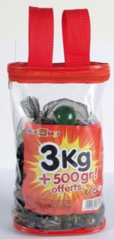 Sac de billes 3 kg + 500 gr maxi toys 10161505 Sac contenant 3