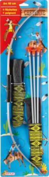 Arc à flèches avec flèches et poignard maxi toys 10165482 Set d'indiens comprennant : 1 arc de 60cm 3 flèchettes 1 poignard