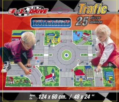 Tapis trafic + 24 panneaux maxi toys 10202827 Tapis trafic + 24 panneauxRéguler la circulation sur ce superbe tapis de trafic routier