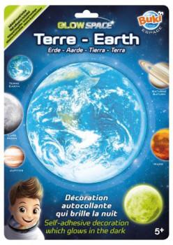 Terre Planète phosphorescente maxi toys 10481896 Planète phosphorescente à coller sur le mur ou le plafond d'une chambre. 1 minute d'exposition à la lumière équivaut à 1 heure de diffusion ! 5 modèles disponibles : Terre – Lune – Saturne – Jupiter – Mars. Le ruban adhésif double face est fourni. Dès 5 ans.