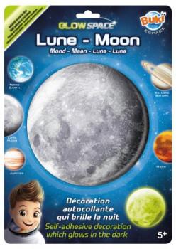 Lune Planète phosphorescente maxi toys 10481993 Planète phosphorescente à coller sur le mur ou le plafond d'une chambre. 1 minute d'exposition à la lumière équivaut à 1 heure de diffusion ! 5 modèles disponibles : Terre – Lune – Saturne – Jupiter – Mars. Le ruban adhésif double face est fourni. Dès 5 ans.