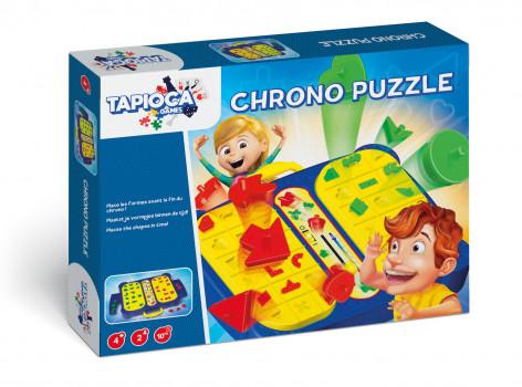 Chrono Puzzle maxi toys 10496737 Place toutes tes formes sur le plateau de jeu avant la fin du chrono ! Super pratique