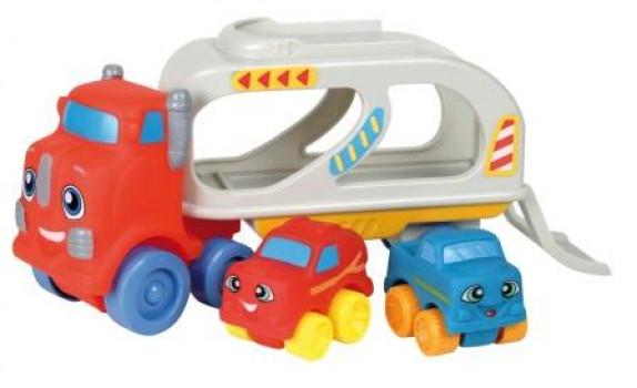Mon premier camion de transport avec 2 véhicules maxi toys 10511578 Camion transport et 2 voitures OuatooAvec sa tête amusante