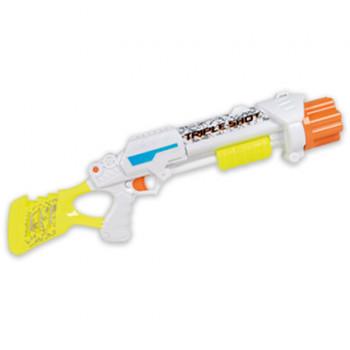 X-Stream Fusil à fléchettes maxi toys 10519047 Mettez sous pression et tirez en tir rapide. Contient 12 flèches en mousse. Tire 3 flèches en mousse à chaque fois. Tire jusqu'à 9 mètres! Dimension 60 cm de long. Fonctionne sans piles. 12 fléchettes en mousse incluses. A partir de 6 ans.