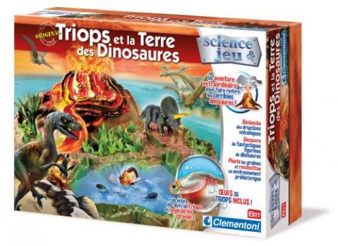 Triops et la Terre des Dinosaures maxi toys 10555519 Retourne aux temps des dinosaures et recrée une île préhistorique avec des triops! Fais naître et grandir 4 figurines de dinosaures. Un volcan à reconstituer et des plantes à faire pousser pour redonner vie à cette période de l'histoire.A partir de 8 ans.