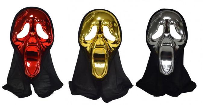 Halloween - Masque Scream maxi toys 10673859 Masque Scream avec cagoule noire. Vendu à l'unité. Modèle aléatoire.