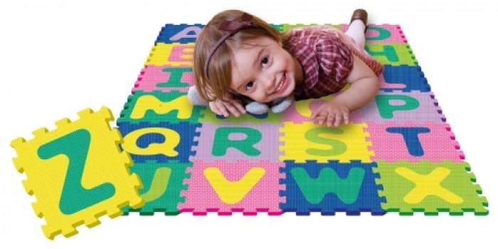 Dalles en mousse Alphabet maxi toys 10761644 Tapis de jeu alphabet en dalles de mousse Ouatoo BabyUn grand tapis de jeu Ouatoo Baby (marque exclusive de Maxi Toys) tout doux