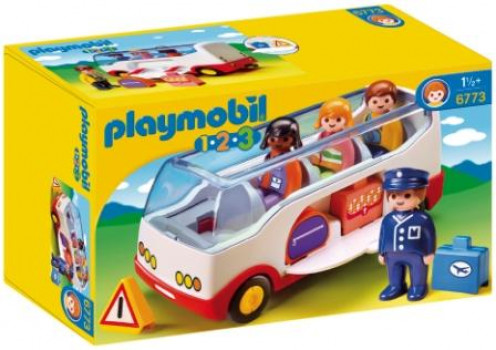 Autocar de voyage - PLAYMOBIL 1.2.3 - 6773 maxi toys 10768337 Autocar avec 4 figurines