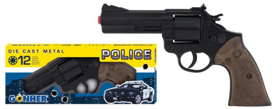 Revolver police 12 coups maxi toys 10771538 Dimensions : 21.5x11.5cm
