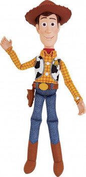 Toy Story 4 - Woody parlant maxi toys 10794042 Revis les aventures de TOY STORY 4 avec le shérif Woody ! Woody prononce plus de 15 phrases lorsque tu appuies sur son ventre ! Parle en français uniquement.Fonctionne avec 2 piles LR03 incluses. A partir de 4 ans.