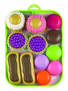 Plateau pâtisserie maxi toys 10878529 Plateau avec différentes pâtisseries : tartelettes