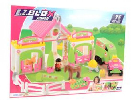 Club hippique maxi toys 10882409 Un club hippique à construire avec 2 boxes