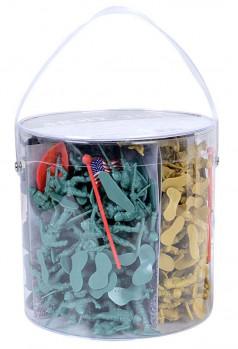 Seau de soldats maxi toys 10886677 Comprend : 200 pcs avec différents type de soldats et d'accessoires.
