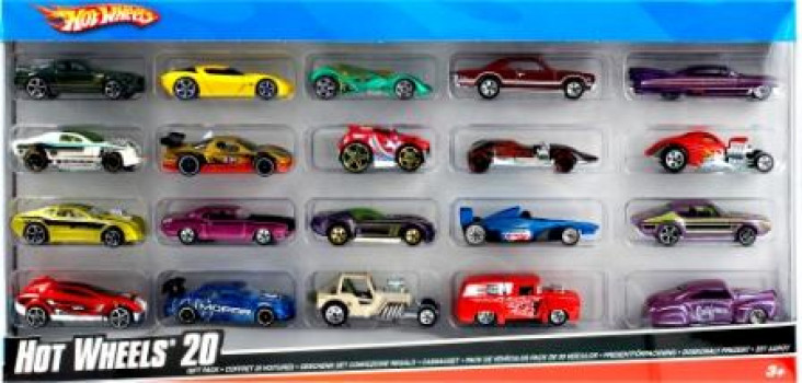 Pack 20 voitures Hot Wheels maxi toys 10926447 Coffret de 20 véhicules Hot Wheels de la plus haute qualité à l'échelle 1/64 comprenant tant des modèles classiques que des modèles de course. A partir de 3 ans.
