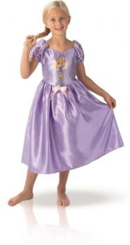 Raiponce déguisement Taille 5/6 ans maxi toys 10932655 Robe en qualité satin avec effigie de la princesse Raiponce en portrait sur le devant. Taille 5/6 ans. Egalement disponible en taille 7/8 ans (Ref: 11250136).
