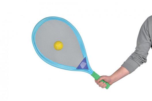 Set de tennis géant maxi toys 11048182 Set de 2 raquettes et 2 balles. 2 coloris disponibles (bleu et rose).