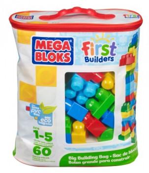 Sac de 60 maxi blocs First Builders maxi toys 11079416 Nouvelles couleurs avec le sac de 60 Maxi briques permettant de multiplier les possibilités de construction. Des couleurs plus ''flashy'' pour des constructions encore plus fun! Toujours avec fermeture éclair et poignée pour un rangement et un transport facile
