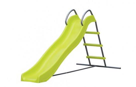 Toboggan double vague 176 cm maxi toys 11155270 Toboggan double vague 176 cmDouble vague pour double plaisir de glisse ! Ce toboggan double vague Oasis (une exclusivité Maxi Toys) possède une structure métallique pour être très résistant aux escalades et aux glissades de votre enfant. Il est idéal pour profiter du jardin tout en développant son équilibre et sa motricité ou pour vaincre sa crainte de la hauteur ! Et c'est encore plus drôle quand on s'amuse à faire la course avec les copains ou quand on installe un jet d'eau à proximité ou une piscine à côté pour sauter dedans après la glissade !Fiche technique :Structure métalliqueHauteur de départ du toboggan : 82 cmGlissière : 176 cmPour enfant de moins de 35 kgDimensions : L95 x P190 x H82 cmÀ partir de 3 ans