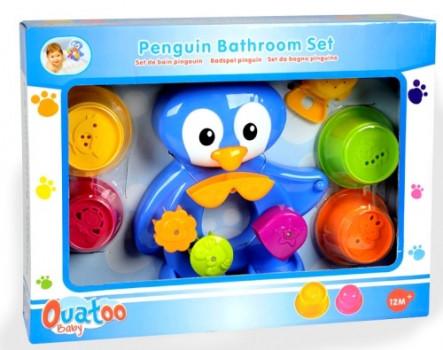Set de bain pingouin maxi toys 11164291 Jouets de bain Pingouin Ouatoo BabyA l'heure du bain