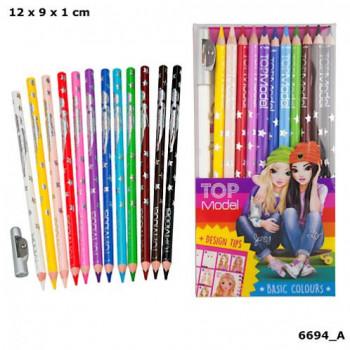 Set 12 crayons couleurs maxi toys 11170014 Set 12 crayons couleurs