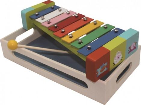 Xylophone multicolore maxi toys 11229475 Xylophone multicoloreCe xylophone coloré en bois participe à l'éveil musical de bébé. Il est très attirant avec ses couleurs vives et c'est vraiment rigolo de taper bien fort sur les touches et de reconnaître les jolis sons ! Un jeu musical traditionnel indémodable pour exercer l'oreille des petits avant de découvrir d'autres instruments !Fiche technique :Dimensions : 28