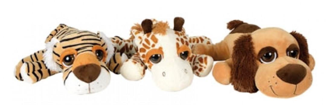 Peluche animal gros yeux maxi toys 11267499 Peluche animal grands yeux Votre enfant aime les peluches ? Offrez-lui donc cette peluche animal aux grands yeux qui lui fait de l'œil ! Tigre