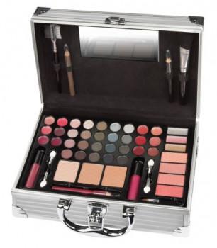 Valisette maquillage petit modèle maxi toys 11323953 ce kit de maquillage contient des couleurs tendances pour créer un maquillage de jour ou de nuit. Contient 20 ombres à paupières