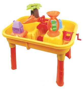 Table sable et eau maxi toys 11442875 Table sable et eauCette table de jeu très colorée est à la hauteur des jeunes enfants qui vont passer des heures à jouer : vous pouvez y ajouter de l'eau ou du sable et il s'amuseront avec tous les accessoires : fontaine à eau