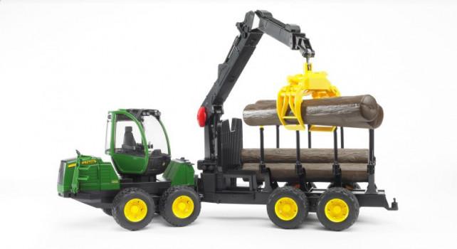 Transport Forestier John Deere maxi toys 11539002 Porteur forestier John Deere 1210E avec chargeur