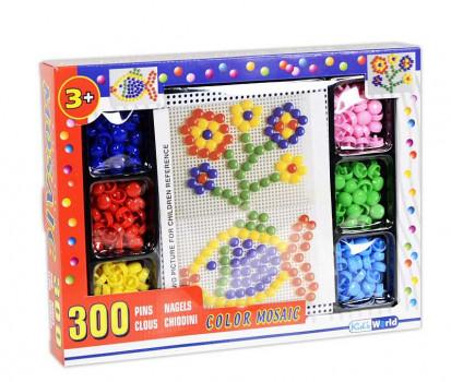 Mosaic set de 300 clous maxi toys 11551030 Mosaic set de 300 clous colorés pour faire de beaux dessins