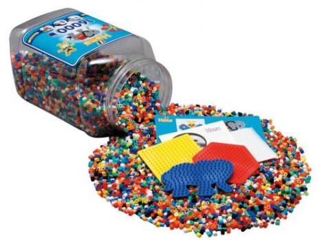 Tonnelet de 16000 perles Hama + plaques maxi toys 11551224 Tonnelet de 16.000 perles à repasser Hama + plaques de créations. Env. 16.000 perles