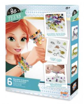 Be Teens - Bracelets breloques maxi toys 11562088 Assemble et crée 6 bracelets tendances avec des perles aux couleurs