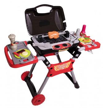 Qweenie Home/barbecue maxi toys 11565871 50 pièces. Sons et lumières. Dimensions: L= 73 cm x P= 31 cm x H= 68.5 cm Nécessite 3 piles AA (non incluses).