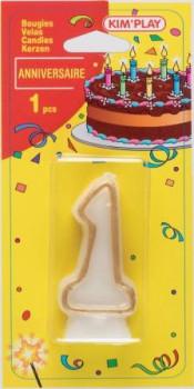 Bougie chiffre 1 maxi toys 8040412 Vous cherchez une bougie pour un anniversaire où le chiffre 1 a sa place? Voici ce qu'il vous faut!