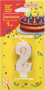 Bougie chiffre 2 maxi toys 8040429 Vous cherchez une bougie pour un anniversaire où le chiffre 2 a sa place? Voici ce qu'il vous faut!