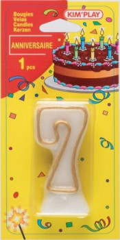 Bougie chiffre 7 maxi toys 8040474 Vous cherchez une bougie pour un anniversaire où le chiffre 7 a sa place? Voici ce qu'il vous faut!