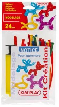 24 Ballons à modeler + pompe + instructions maxi toys 8041233 Fais aller ton imagination et crée des personnages avec ces ballons à modeler pompe et inscructions incluses