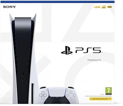 Sony PlayStation 5 Édition Standard, Avec 1 Manette Sans Fil DualSense, Couleur : Blanche