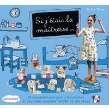 Si j'étais la maîtresse - Petit coffret Les Jouets Français Un jeu éducatif et amusant pour imaginer une vraie vie de classe avec ses poupées et peluches.