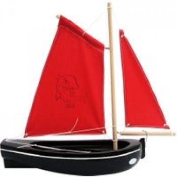 Barque noire 30 cm Les Jouets Français Barque Noire en bois pour jouer dans l'eau