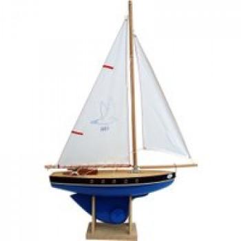 Voilier 501 coque bleue 35 cm Les Jouets Français Voilier de 35 cm en bois pour jouer dans l'eau