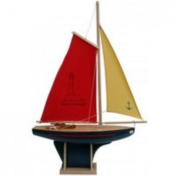 Voilier Saint-Germain 40 cm Les Jouets Français Magnifique voilier en bois de 40 cm pour jouer dans l'eau