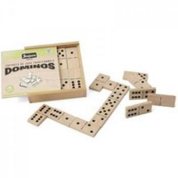 Jeu de Domino en bois - Coffret en bois Les Jouets Français Jeu de Domino dans un coffret en bois
