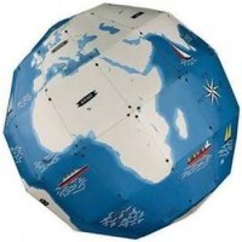 Mon globe Les Jouets Français Globe à fabriquer avec les monuments les plus importants à positionner