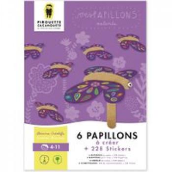 Mes papillons Les Jouets Français 6 papillons à créer avec 228 stickers
